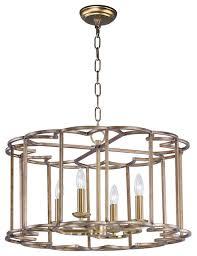 helix 4 light chandelier bronze fusion