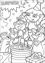 Dora Kleurplaat Verjaardag Verjaardag