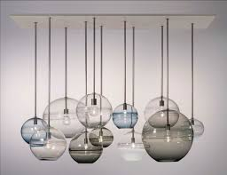 ... Gorgeous Table Lamp Decoration With Hand Blown Glass Lamp Shade :  Awesome Picture For Pendant Ball ...