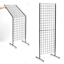 folding grid display with bag