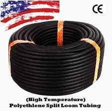 wire loom 100 ft 1 2 split wire loom conduit polyethylene tubing black color sleeve tube