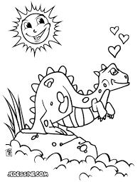 Coloriages Dinosaure Amoureux Fr Hellokids Com
