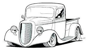 Little Blue Truck Colouring Pages Printable Chevy Coloring Monster