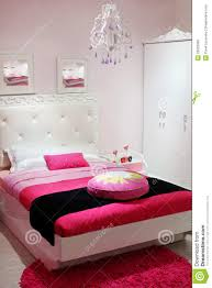 Pink And White Bedroom Bedroom With White Wardrobe And Pink Carpet Royalty Free Stock