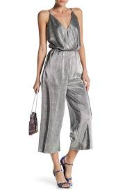 Love On A Hanger Clothing Love On A Hanger Ribbed Metallic Culotte Jumpsuit Nordstrom Rack 24