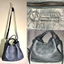 woven leather purse made in valentina italy