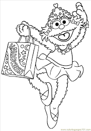 Halloween Sesame Street Coloring Pages Street Zoe Halloween Coloring