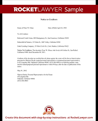 Letter To Creditors Notice To Creditors Form Bankruptcy Dispute