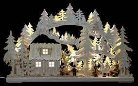 3 Erzgebirge Holzkunst Dekoration Weihnachten Bei Bader