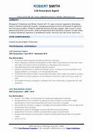 20 Insurance Agent Resume Sample Colimatrespuntocero Com