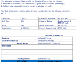 Solved You Will Create An Income Statement For The Questi