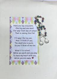 First Day Of School Mother Daughter Bracelet Set