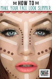 how to make your face look slimmer tips on how to contour and apply makeup