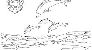 Coloring Pages Ocean Waves Free Fish Animals For Preschool At