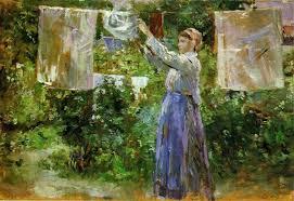 berthe morisot peasant hanging out the washing