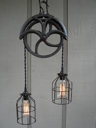 vintage lighting pendants. Gallery Of Pulley Pendant Light Fixture Vintage Lighting Pendants