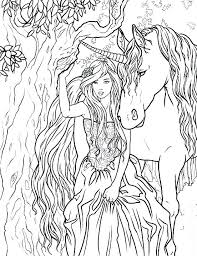 Realistic Unicorn Coloring Pages Unicorn Coloring Page Unicorns