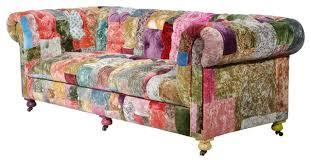Modern Sofa Colourful Printed Fabric Designs Sofas I37