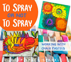 To Spray or Not To Spray...chalk pastels | Deep Space Sparkle
