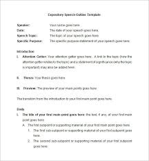speech outline pdf word documents public expository speech outline in word format