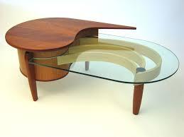 custom made mahogany cherry and glass coffee table