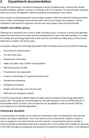 Health And Safety For Design Technology In Schools G79 Auditing Health Safety In A Secondary School Design