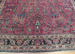 antique persian sarough mahal rare oriental area rug 9x12