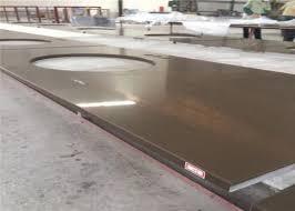 durable pre cut quartz countertops artificial quartz stone top pure brown