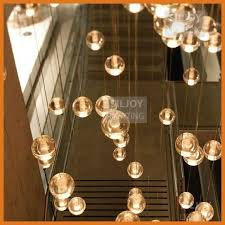 36 led light modern clear cast glass sphere ball meteor shower glass sphere chandelier