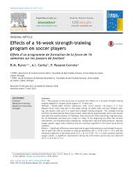 pdf effects of a 16 week strength program on soccer players
