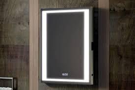 Delveccio Illuminated Heated Mirror with Shaver Socket and LED