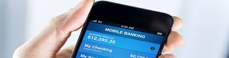mobile banking on a smart phone screen
