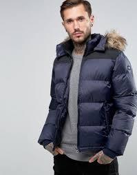 schott quilted padded jacket with detachable hood navy men schott glass vials uk factory