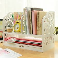 office desktop storage. 2014 Fashion Home \u0026 Office Desk Organizer, DIY Desktop Storage Rack, White Ornamental Engraving C