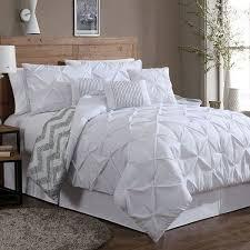 ella pinch pleat 7 pc comforter set