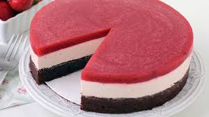 Chocolate Strawberry Mousse Cake Recipe Tablespooncom