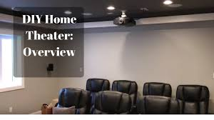 My diy basement home theaterMovie Room Part 1 Overview YouTube