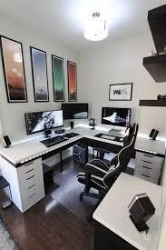 stylish office desk setup. Impressive Computer Desk Setup Ideas 15 Must See Pins Monitor Stand Dark Wood Stylish Office I