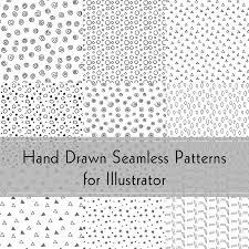 Illustrator Patterns Enchanting Hand Drawn Seamless Patterns For Illustrator GreenBulbGangCom