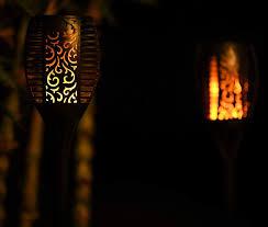 Tiki Lights Amazon Solar Tiki Torch Lights Remote Controlled Flickering Flame