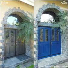 painted double front door. Transform Your Front Door With Modern Masters Paint, Doors, Painting Painted Double O
