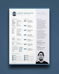 One Page Resume Template Best Resume Template Modern One Page Resume Template With Timelines For