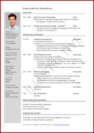 International Cv Format Doc Brave100818 Com
