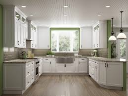 Brilliant White Shaker Ready To Assemble Kitchen Cabinets The