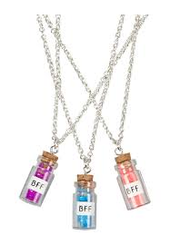 BFF Glitter Bottle Necklaces
