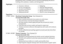 Accounts Receivable Resume Examples Accounts Receivable Resume Gorgeous Title Clerk Resume Accounts
