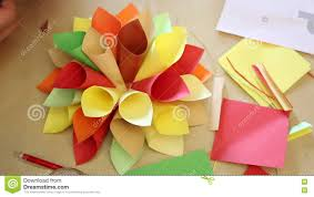How To Make Paper Cones For Flower Petals Origami Handmade Stock Footage Video Of Fantasy Craft 76899196