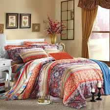 bohemian queen quilt set orange blue and purple bohemian chic twin bedding sets with design bedroom