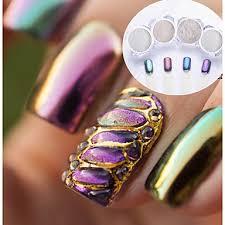 4ks 2pcs Glitter Pro Lesk Nail Art Manikúra Pedikúra Zrcadlový