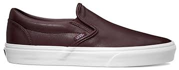vans classic slip on leather burdy shoes womens vans trainers x88p1678